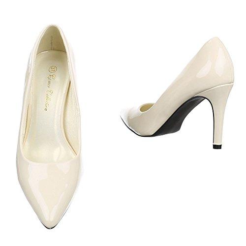 Ital-Design , chaussures compensées femme Creme PA15732