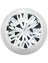 Stahl - Schraubkugel - Kristall - SWAROVSKI - Supernova Concept (Piercing Schraubkugel Aufsatz für Hufeisen, Stäbe, Labrets etc. silber)