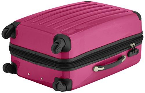 HAUPTSTADTKOFFER - Alex - 2er Koffer-Set Hartschale glänzend, 65 cm + 55 cm, 74 Liter + 42 Liter, Graphit-Blau Braun-Magenta