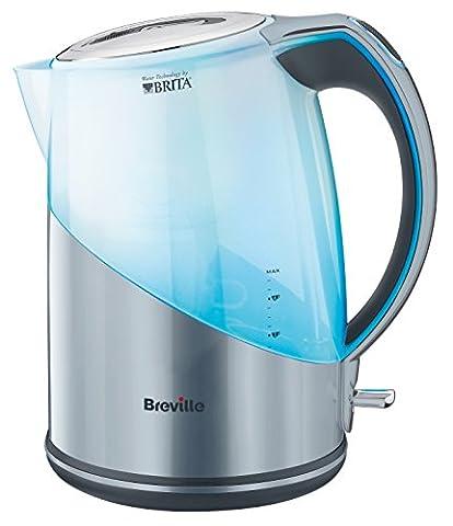 Breville Brita Filter Wasserkocher, 3000 Watt, silber