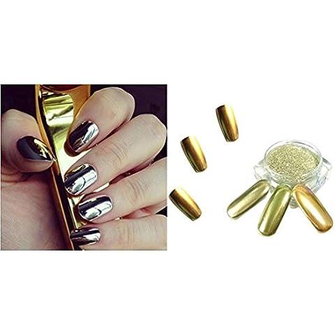 Amlaiworld 10g/ Box Oro Shinning Nail specchio Glitter polvere Pigmento