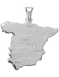 So Chic Joyas - Colgante España Mapa España Plata 925