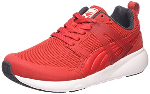 Puma Aril, Baskets Basses Mixte Adulte Rouge (high Risk Red-white 09)