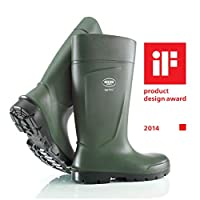 Quality Safety Rubber Boots for Men, for Agriculture, Feather-Light, high Wearing Comfort, Non-Slip Sole, Resistant to Oil, Grease & Detergent, Green, UK 9