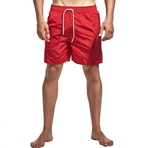 Preisvergleich Produktbild Smony - Men's Shorts Herren Badeshort rot rot xxl