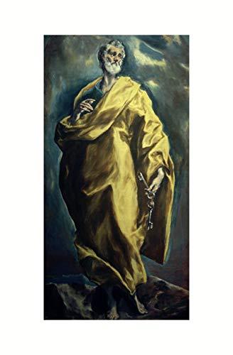 El Greco - Heiliger Apostel Petrus um 1610/12 Print 60x91.5cm
