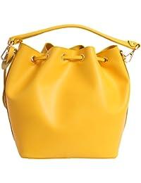 Matt e Desy collection - Bolso de asas de Piel para mujer Amarillo amarillo