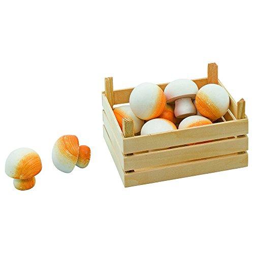 Goki 51674 - Kaufläden und Zubehör - Champignons, Gemüsekiste