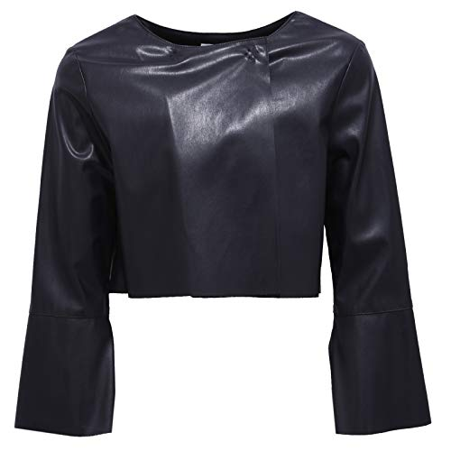 Liu Jo 1165Y Giacca Bimba Girl Ecopelle Black Eco Leather Jacket  16 Years  9c2ce5a6c9c