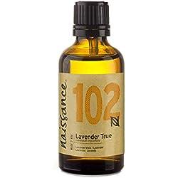 Naissance olio essenziale di Lavanda 50ml - puro al 100%, Vegano, Cruelty Free, senza OGM