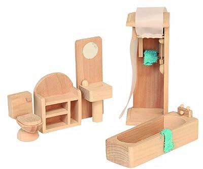 Beluga 70118 - Muebles de madera para el cuarto de baño de casa de muñecas por Beluga