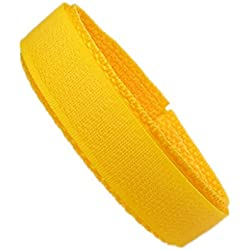 Minott Replacement Band Watch Band Textile Strap velcro yellow 16mm