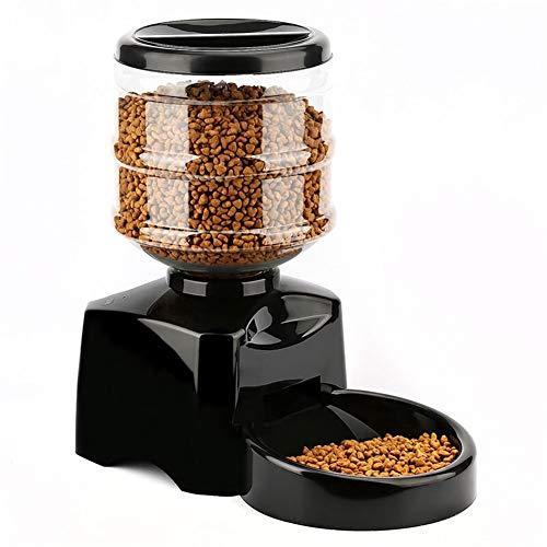 GeWu888 di recente Pet Feeder 5.5L Automatico Linea di Alimentazione Digitale elettronico Display Bowl Dispenser for Il Gatto del Cane TE889 (Color : Black)