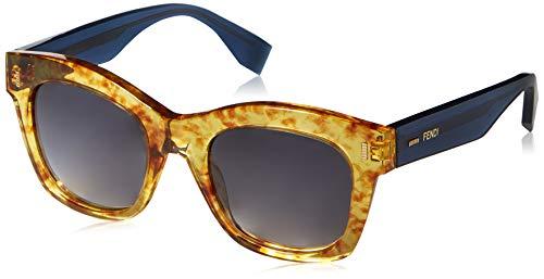Fendi ff 0025/s jj 7oc 50, occhiali da sole donna, marrone (vntambr bluette/grey sf)