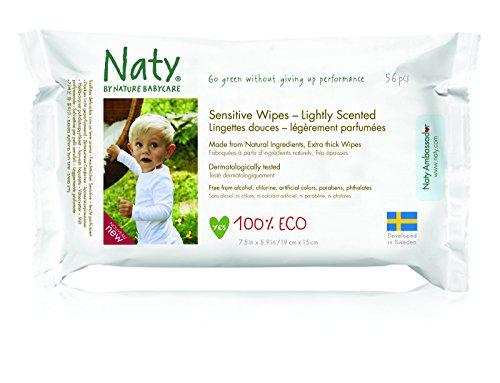 Naty by Nature Babycare Öko Feuchttücher Leicht Parfümiert, 12er Pack (12 x 56 Stück) - 5