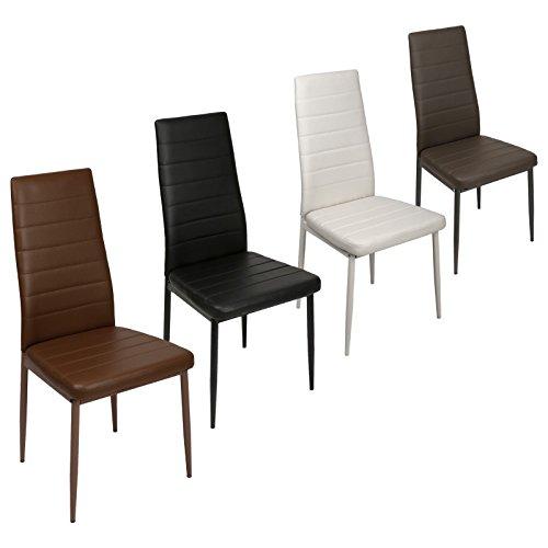 Esszimmerstühle verschiedene Farben wählbar - Stuhl Stühle 2/4/6/8 St. Küchenstuhl Essstuhl Essgruppe (2 Stück, Weiß)