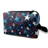 Made in The USA Stars Red White Blue Portable Travel Makeup Cosmetic Bags Organizer Multifunction Case Toiletry Bags