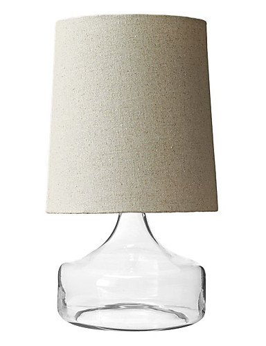 gjy-60w-modern-table-light-with-beige-fabric-drum-shade-and-blown-glass-base-220-240v