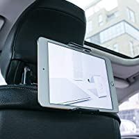"Soporte Tablet Coche, Lamicall Soporte Tablet para Reposacabezas : Soporte Base Ajustable para 4""~11"" Tablets para Pad 2018 Pro 9.7, 10.5, Air Mini 2 3 4, Phone, E-Reader, Otras Tablets - Negro"