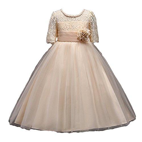Vestido De Niña Floral Bowknot Vestido Princesa Vestido Bautizo Bebé Niñas Vestidos De Comunion Fiesta Del Boda Primavera Verano Ropa