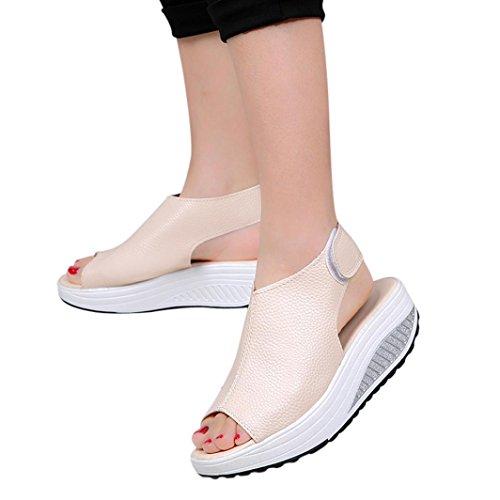 Btruely Sandalen Damen Sommer Hausschuhe Frauen Strandschuhe B?hmen Schuhe Flip-Flops Vintage Slipper Hoher Absatz Sandaletten Plattform Zehensandale Sandalen Outdoor Schuhe