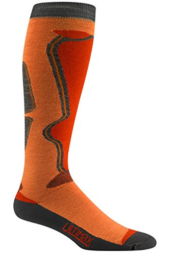 Wigwam Snow Moto PRO Calze, Orange Peel, Size UK 8-11.5/EU 43-47 Uomo