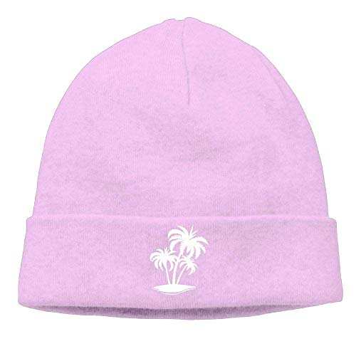 Funny Hip hop Unisex Soft Woolen Cap for Mens and Womens, Palm Tree and Tropical Island-1 Skull Cap