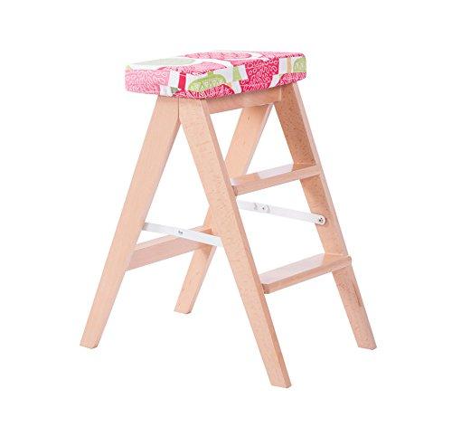 JCRNJSB® divano La cucina Sgabello pieghevole in legno massello ...