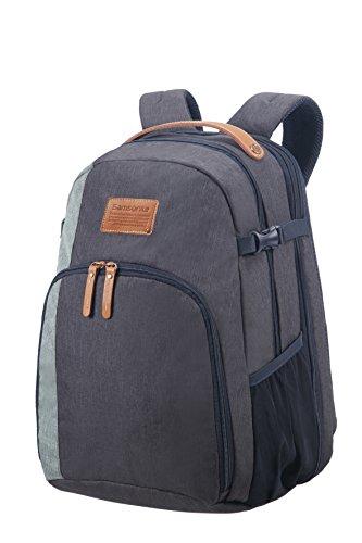 SAMSONITE Rewind Natural - Laptop Backpack Large Expandable, 29/34L - 0.7 KG Rucksack, 45 cm, 29 L, River Blue -