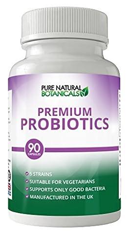 Premium Probiotics Capsules ★10 Billion Probiotics CFUS★100% MONEY BACK GUARANTEE ★ Improve Digestion & Immune System - Regulate Bowel Function - Helps prevent Diarheea & Irritable Bowel Syndrome - Made in UK - Probiotics High Strength for Women & Men - Suitable for Vegetarians