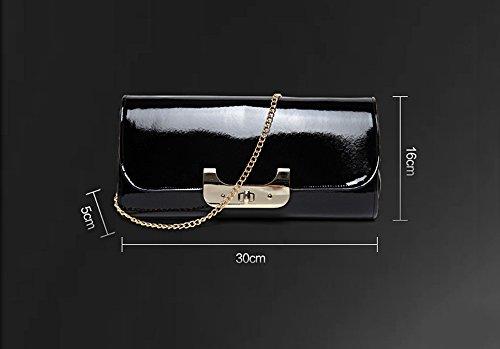 Borsa a tracolla, borsa a mano, borsa a mano obliqua retrò, borsa a mano personalizzata di blocco delle maree, borsa da sera ( Colore : Oro ) Oro