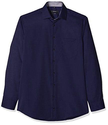 Seidensticker Herren Businesshemd Comfort Langarm mit Kent Kragen Bügelfrei Blau (Dunkelblau 19)