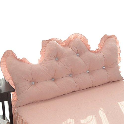 WENZHE Kopfteil Kissen Bett Rückenkissen Rückenlehne Für Bett Bettkeile Keilkissen Palettenpolster Baumwolle Spitze Rückenlehne Softcase Waschbar, 3 Farben, 4 Größen (Farbe : 1#, größe : 200 × 50cm) - Zeitgenössische-sofa-bett