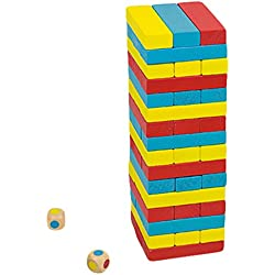 Andreu Toys - Torre colores, juego de habilidad, 48 piezas (16215)