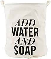 HOUSE DOCTOR Ls0404 Wäschekorb Add Water And Soap, Hanf, dia: 40cm, h: 50cm