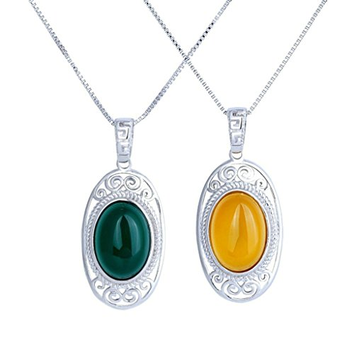 bishilin-s925-silver-oval-gemstone-agate-beads-yellow-pendant-necklace-for-women
