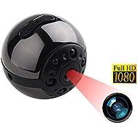 Tangmi 1080P HD Mini-Kamera, 12 Millionen Pixel kleine Kamera DVR mit Bewegungserkennung und Nachtsicht, Mini-Überwachungskamera für den Innen- und Außenbereich