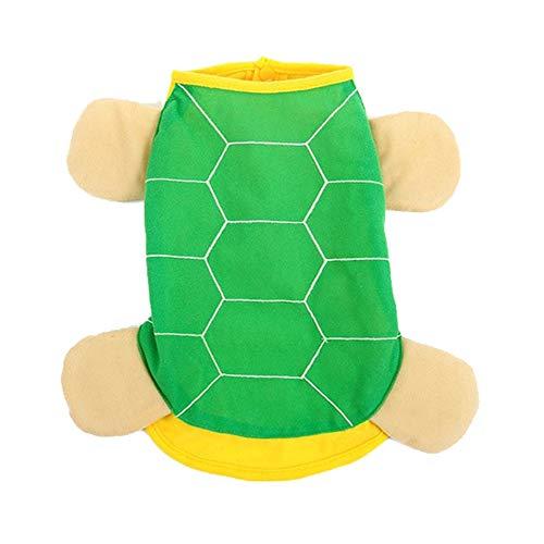 100dbbfb3a38 Pet Costumes Cute Tortoise Turned Installed Super Meng Stay Warm Soft Feet Vestiti  Giallo-Verdi