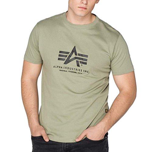 Alpha Industries Basic Logo Shirt Größe S, oliv