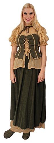 Erwachsene Kostüm Für Bauern (Marketenderin-Kostüm für Damen | Größe: 44-46 | Bäuerin-Verkleidung für Erwachsene | Bauern Mittelalter-Kostüm für Karneval, Fasching & Motto-Partys |)