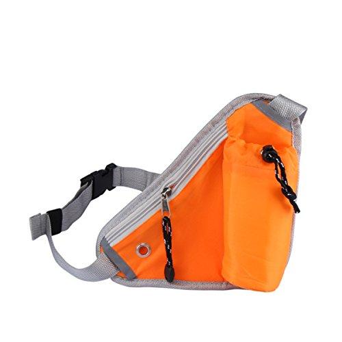 shenline Outdoor Wasserdicht Taille Pack für Reisen Radfahren Laufen Klettern Wandern Camping Walking Sport Geldbörse Rückseite Schulter Tasche Orange