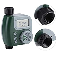 Mainstayae Irrigation Water Timer Controller Garden Electronic Programmable Automatic Watering Timer Waterproof Water Faucet To Hose Timer with LCD Display for Outdoor Parterre