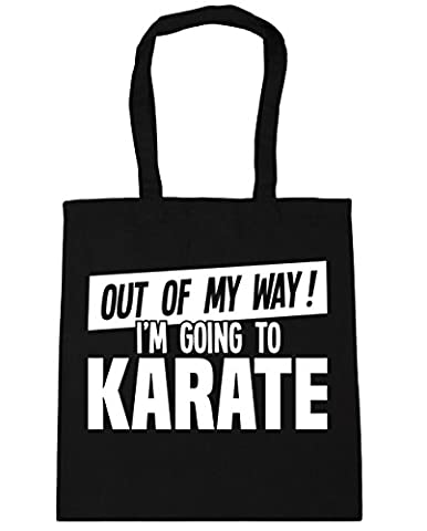 HippoWarehouse Out of My Way I'm Going to Karate Tote Shopping Gym Beach Bag 42cm x38cm, 10 litres