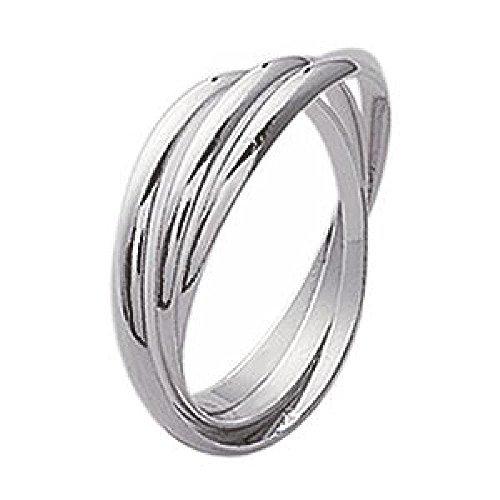 So Chic Joyas - Anillo Mujer Alianza 3 anillos 6 mm