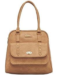 ESBEDA Beige Color Solid Pu Synthetic Fabric Handbag For Women