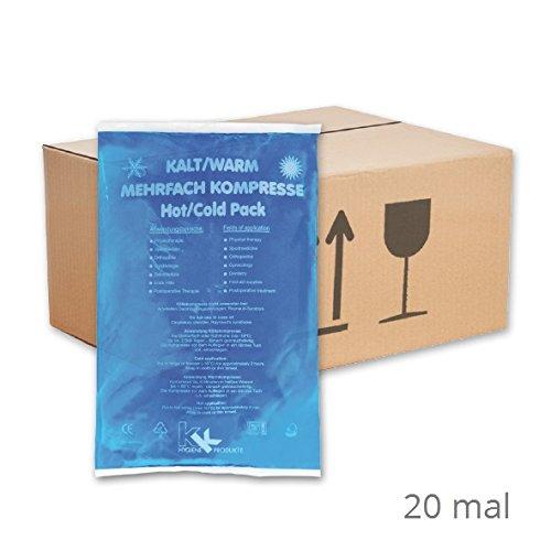 KK-Hygiene Kalt-Warm Kompressen Mehrfachkompresse 16 x 26 cm (20 Stück) mikrowellengeeignet 20 X 26 Kissen Legen