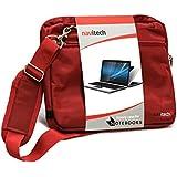 Navitech sacoche de transport besace antichocs pour ordinateur portable ou tablettes tactiles HP Pavilion x2 Tablet With 12.1 (rouge)