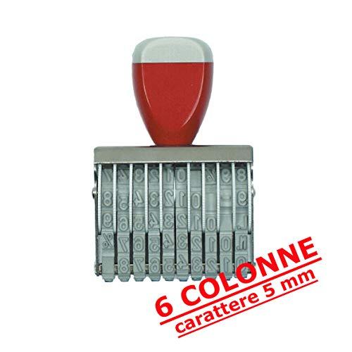 Numeratore Gomma mm 5/6Colonne