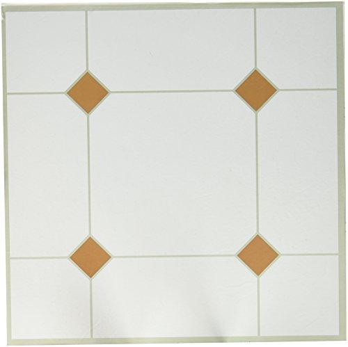 MAX CO LTD 5th Avenue Vinyl Floor Tile, Peel & Stick, Taupe & White, 12 x 12-In. (12 X 12 Vinyl Floor Tile)