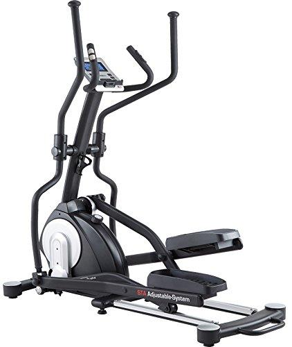 MAXXUS CROSSTRAINER CX 7.4, Ellipsentrainer mit 5-fach Schrittlängenverstellung! Flache, elliptische Bewegung wie beim Laufen. Elektr. gesteuertes Magnetbremssystem, Trainingsprogramme, HRC-Programm, Schienensystem für sanften Lauf. Auf unterschiedliche Körpergrößen einstellbare Schrittlänge.